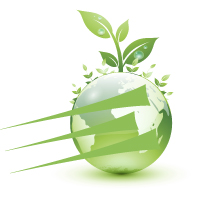Enterprise Paper Green Globe